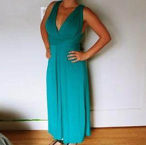 Teal Tricks of the Trade Convertible Maxi Dress